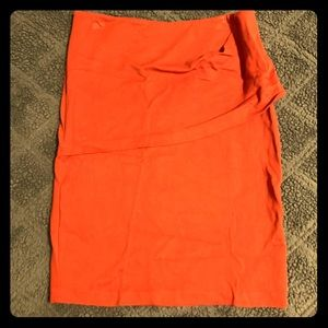 Turmeric / Orange CAbi Pencil Skirt